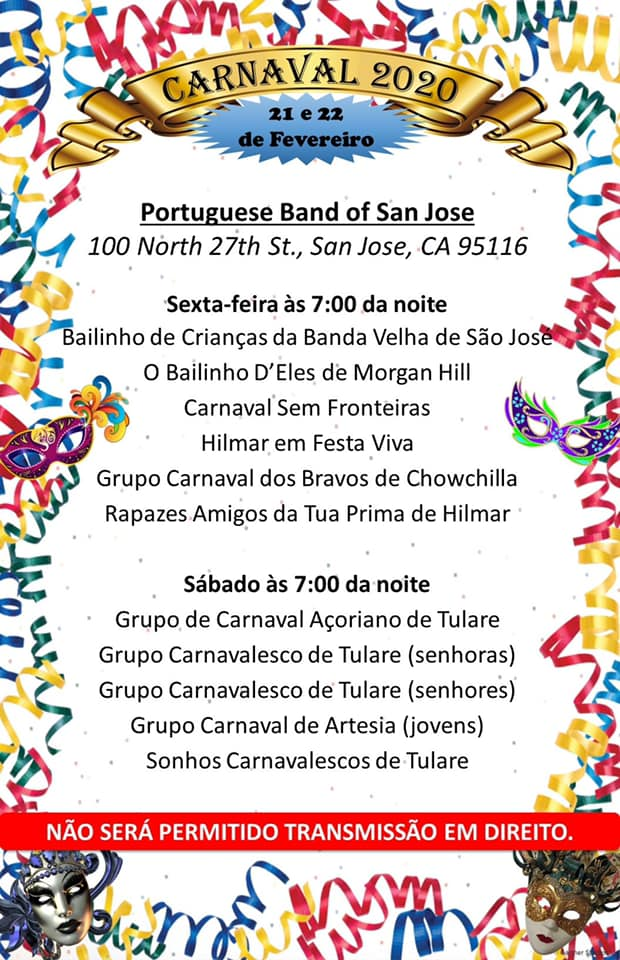 CARNAVAL 2020 - Portuguese Band of San Jose - California