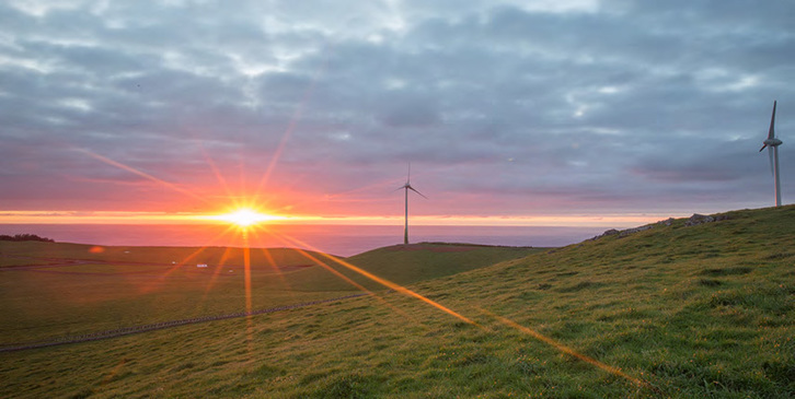 Graciosa, Azores, Portugal - Goal of 100% renewable energy future -