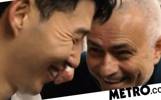 Jose Mourinho gatecrashes Son's interview to mock him after Tottenham beat Aston Villa | Metro News -