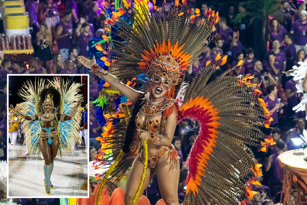 Spectacular Rio Carnival kicks off with bejewelled dancers in show-stopping outfits –