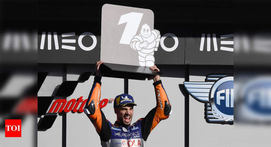 Local favourite Oliveira signs off with Portuguese MotoGP win |