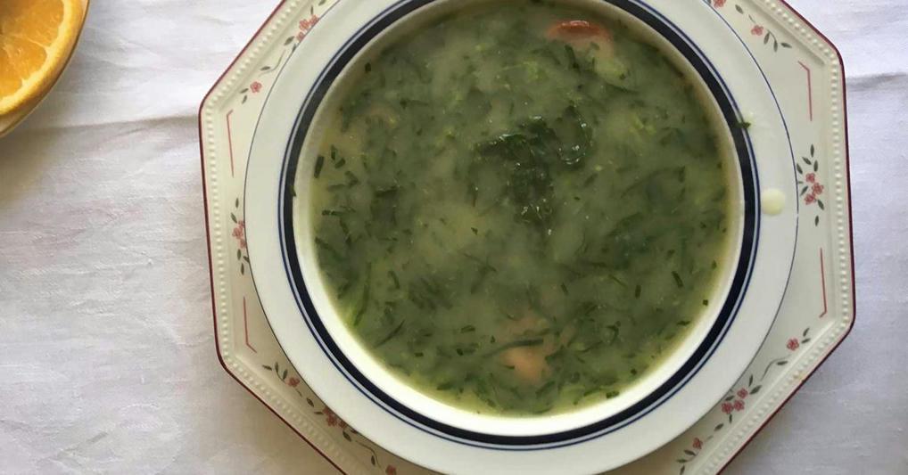 Caldo Verde (Portuguese Potato and Collard Green Soup With Chorizo) Recipe -