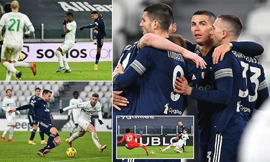 Juventus 3-1 Sassuolo: Cristiano Ronaldo draws level as joint-top scorer in football history -