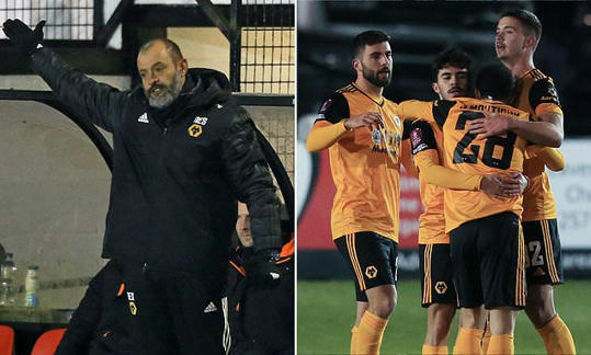 Nuno demands Wolves improve 'a lot of aspects of our game' following slender win against Chorley |