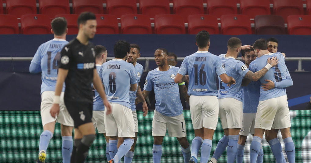 Portuguese connection sparks City's 2-0 win v Gladbach in CL -