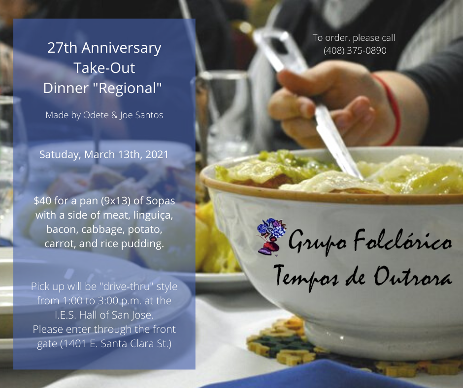 Grupo Folclórico Tempos de Outrora 27th Anniversary Take-Out Dinner