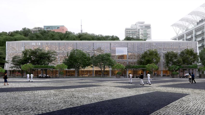 Mecanoo designs Macau Central Library with light-filtering facade informed by books -