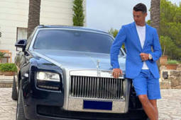 Cristiano Ronaldo Poses Alongside His New Rolls Royce, Keeps Everyone Guessing with a Cryptic Social Media Post -